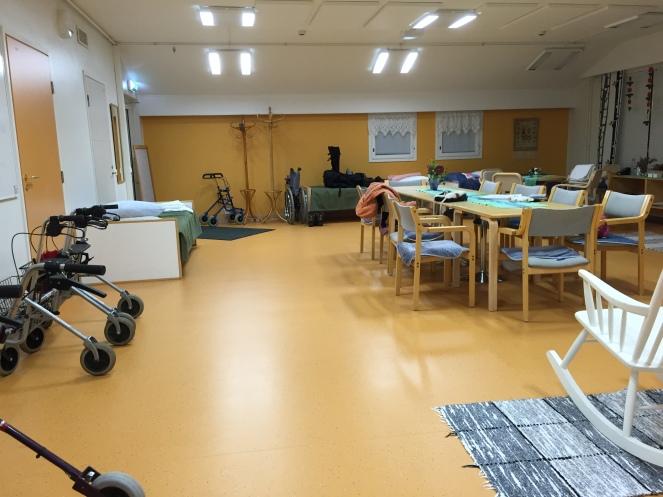 芬蘭北部小鎮Sodankylä的健康福利局提供的老人活動空間(©Wasiq攝影)
